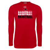 Under Armour Red Long Sleeve Tech Tee-Basketball Triple Stacked