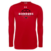 Under Armour Red Long Sleeve Tech Tee-Soccer Ball Design