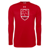 Under Armour Red Long Sleeve Tech Tee-Soccer Shield Design