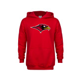 Youth Red Fleece Hoodie-RedHawk Head