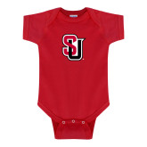 Red Infant Onesie-Tertiary Mark