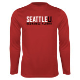 Performance Red Longsleeve Shirt-Alumni
