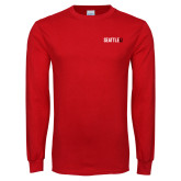 Red Long Sleeve T Shirt-Primary Mark