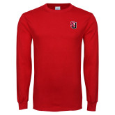 Red Long Sleeve T Shirt-Tertiary Mark