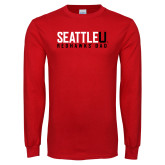 Red Long Sleeve T Shirt-Dad