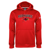 Under Armour Red Performance Sweats Team Hoodie-RedHawks Arched