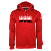 Under Armour Red Performance Sweats Team Hoodie-Basketball Triple Stacked