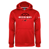 Under Armour Red Performance Sweats Team Hoodie-Soccer Ball Design