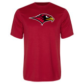 Performance Red Tee-RedHawk Head
