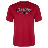 Performance Red Tee-RedHawks Arched