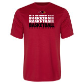 Performance Red Tee-Basketball Triple Stacked