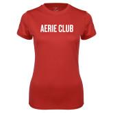 Ladies Syntrel Performance Red Tee-Aerie Club