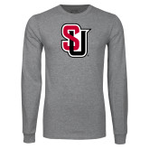 Grey Long Sleeve T Shirt-Tertiary Mark