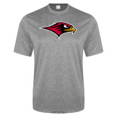 Performance Grey Heather Contender Tee-RedHawk Head