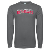 Charcoal Long Sleeve T Shirt-SU RedHawks Arched