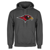 Charcoal Fleece Hoodie-RedHawk Head