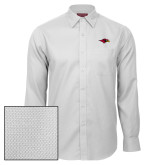 Red House White Diamond Dobby Long Sleeve Shirt-RedHawk Head