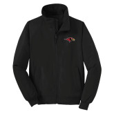 Black Charger Jacket-RedHawk Head
