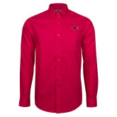 Red House Red Long Sleeve Shirt-RedHawk Head