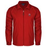 Full Zip Red Wind Jacket-Tertiary Mark