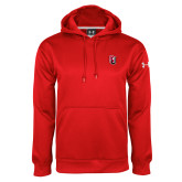 Under Armour Red Performance Sweats Team Hoodie-Tertiary Mark