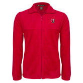 Fleece Full Zip Red Jacket-Tertiary Mark