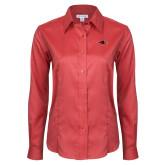 Ladies Red House Red Long Sleeve Shirt-RedHawk Head