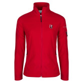 Columbia Ladies Full Zip Red Fleece Jacket-Tertiary Mark