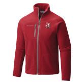 Columbia Full Zip Red Fleece Jacket-Tertiary Mark