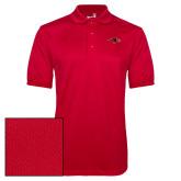 Red Dry Mesh Polo-RedHawk Head