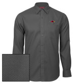 Red House Dark Charcoal Diamond Dobby Long Sleeve Shirt-RedHawk Head