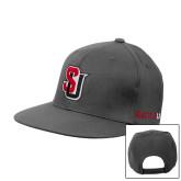 Charcoal Flat Bill Snapback Hat-Tertiary Mark