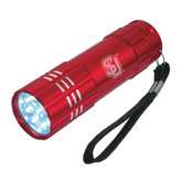 Industrial Triple LED Red Flashlight-Tertiary Mark Engraved