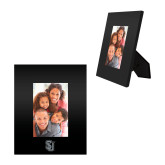 Black Metal 4 x 6 Photo Frame-Tertiary Mark Engraved
