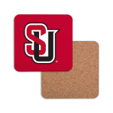 Hardboard Coaster w/Cork Backing-Tertiary Mark