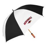 64 Inch Black/Whit Umbrella-RedHawks Arched