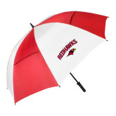 62 Inch Red/White Vented Umbrella-RedHawks Arched