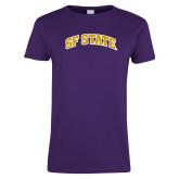 Ladies Purple T Shirt-SF State