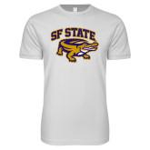 Next Level SoftStyle White T Shirt-Primary Mark