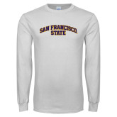 White Long Sleeve T Shirt-San Francisco State