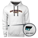 Contemporary Sofspun White Hoodie-San Francisco State