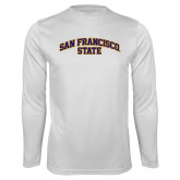 Performance White Longsleeve Shirt-San Francisco State
