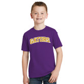 Youth Purple T Shirt-Gators