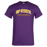 Purple T Shirt-Volleyball