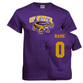 Purple T Shirt-Primary Mark, Custom Tee w/ Name and #