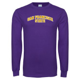 Purple Long Sleeve T Shirt-San Francisco State