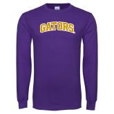 Purple Long Sleeve T Shirt-Gators