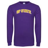 Purple Long Sleeve T Shirt-SF State
