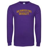 Purple Long Sleeve T Shirt-San Francisco State University