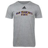 Adidas Sport Grey Logo T Shirt-San Francisco State